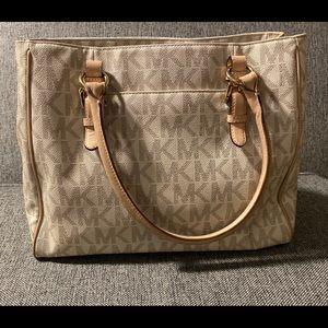 Michael Kors Vanilla Tote with Storage Bag